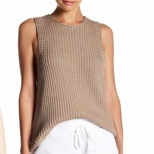 NEW! VINCE Italian Waffle-Stitch Sweater Tunic